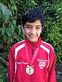 Joaquin Perkins 2012 North American Youth Chess Champion Under 8.JPG