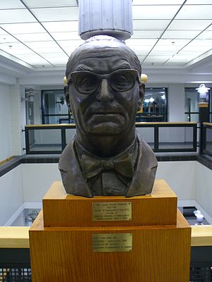 Joey Smallwood - A bust of Joey Smallwood on display at Memorial University of Newfoundland.