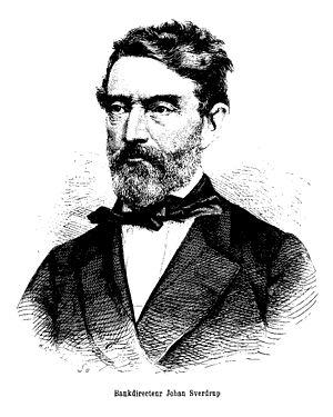 Johan Sverdrup -  Engraving by H. P. Hansen