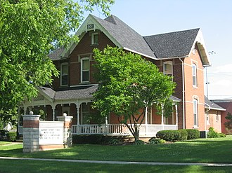 National Register of Historic Places listings in Putnam County, Ohio - Image: John Edwards House in Leipsic