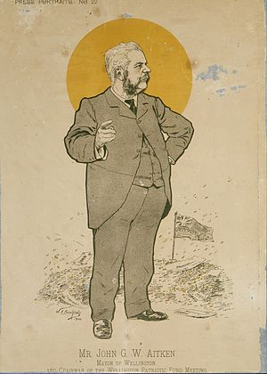 John Aitken (politician) - John Guthrie Wood Aitken caricature, 1900
