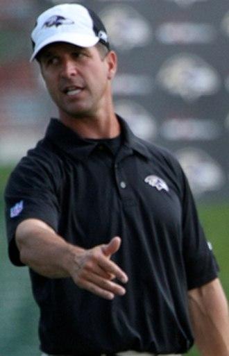 John Harbaugh - Harbaugh as the head coach of the Ravens