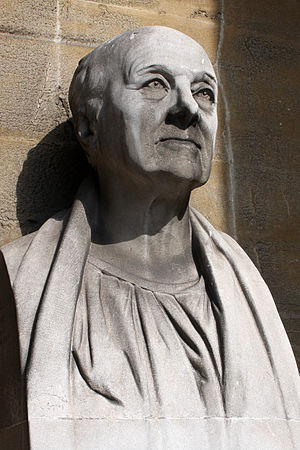All Souls Church, Langham Place - Bust of John Nash outside the church