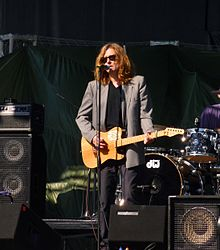John Waite at sound check before the 2011 Surf and Song Festival