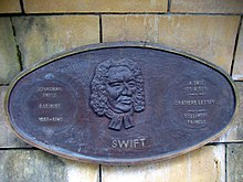 Gedenkplakette im Saint Patrick's Park, Dublin (Quelle: Wikimedia)