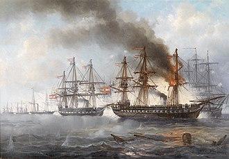 Battle of Heligoland (1864) - The Battle of Heligoland by Josef Carl Berthold Püttner