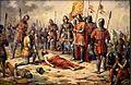 Josef Mathauser - Přemysl Otakar II. padl u Suchých Krut v den sv. Rufa 1278.jpg