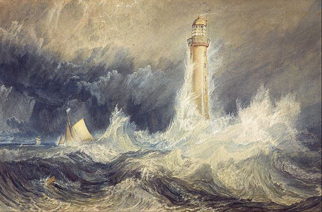 Bell Rock Lighthouse, by Turner