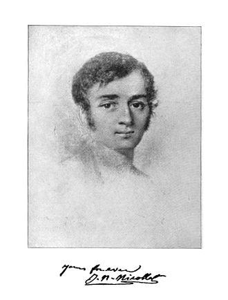 Joseph Nicollet - Portrait and autograph of J.N. Nicollet