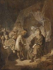 Joseph racontant ses rêves à ses parents et ses frères