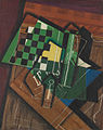 Juan Gris, September 1915, Jeu d'échecs (The Checkerboard), oil on canvas, 92.1 x 73 cm, Art Institute of Chicago.jpg