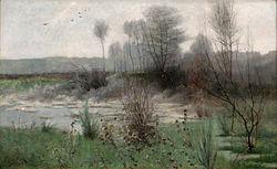 BECK, Julia French Landscape, Grèz, 1885