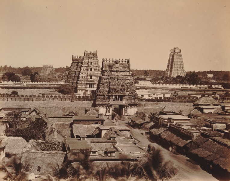 Srirangam on the banks of the Cauvery