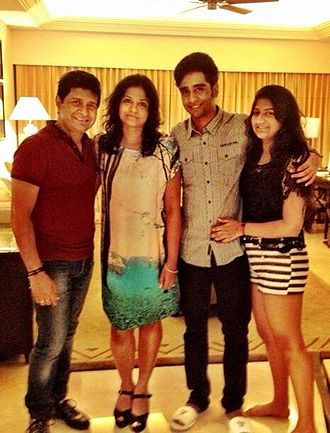 KK (singer) - KK with his wife Jyothy, son Nakul Krishna and daughter Taamara