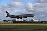KLM B777-306ER (PH-BVD) landing at Amsterdam Airport Schiphol in 2018 (6).jpg