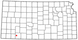 Location of Plains in Kansas