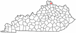 Location of Claryville, Kentucky