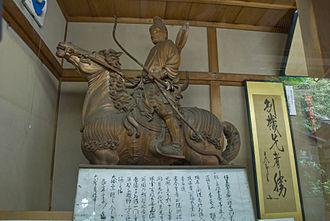 Kenmu Restoration - Prince Morinaga's statue at Kamakura-gū in Kamakura