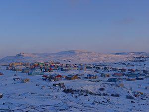Kangiqsualujjuaq - Image: Kangiqsualujjuaq at Dawn in March