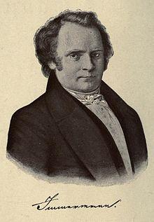 Karl Immermann, Zeichnung von Carl Friedrich Lessing, 1837 (Quelle: Wikimedia)
