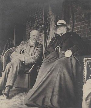 Karl Pearson - Galton aged 87, with Karl Pearson.