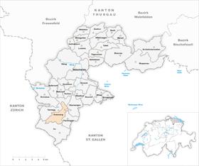 Karte Gemeinde Dussnang 1971