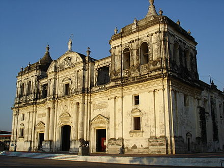 The Leon Cathedral, one of Nicaragua's World Heritage Sites. Kathedrale Leon 2.JPG