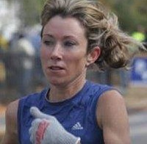 Kathy Fleming - Fleming competing in a road race (2008)