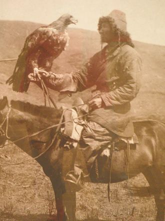 Kazakhs - Kazakh central asian horseman. The Russian Museum of Ethnography, 1910