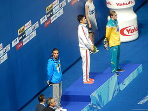 Swimming at the 2015 World Aquatics Championships – Men's 800 metre freestyle - Victory Ceremony