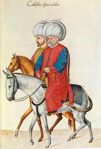 Kazasker - The two kazaskers in a 17th-century illustration