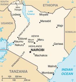 Kenya - Mappa