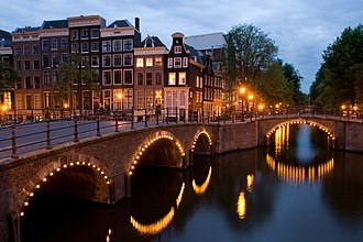 Smart city - Street lamps in Amsterdam have been upgraded to allow municipal councils to dim the lights based on pedestrian usage.