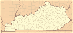 Location of Levi Jackson Wilderness Road State Park in Kentucky