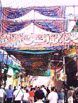 Ahmad Salama Mabruk - The Khan el-Khalili marketplace