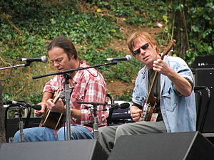Kieran Kane - Kieran Kane (right) with Kevin Welch at Hardly Strictly Bluegrass Festival in San Francisco, CA