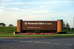 Kimberly-Clark Plant Entrance - geograph.org.uk - 43707.jpg