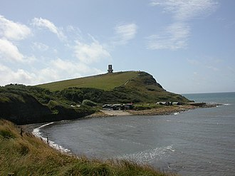 Kimmeridge Bay - View  southeast at Kimmeridge Bay with Clavell Tower in the background