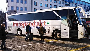King Long - King Long long distance bus covering central Europe destinations between Serbia and Slovenia.