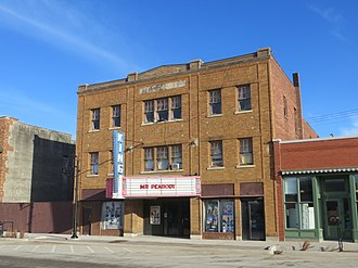 National Register of Historic Places listings in Benton County, Iowa - Image: King Theatre Belle Plaine Iowa 3 10 2014
