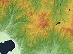 Kirigamine Volcano Relief Map, SRTM-1.jpg