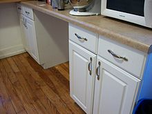 Picture of cabinets in a kitchen