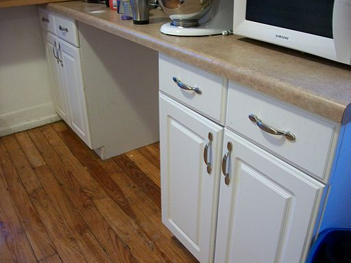 Kitchen cabinets drawers installed