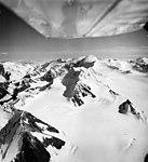 Knik Glacier, ice field source of the Knik Glacier looking northeast towards Mount Marcus Baker, August 25, 1965 (GLACIERS 5022).jpg