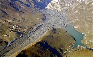 Kolka Glacier - Aftermath of the 2002 surge.