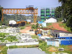 Under construction Kollam Bypass near Thrikkadavoor