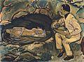 Kolo Moser - Selbstporträt mit Meerjungfrau - 1914.jpeg