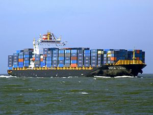 Kota Laju IMO 9340752 approaching Port of Rotterdam, Holland 19-Apr-2007.jpg