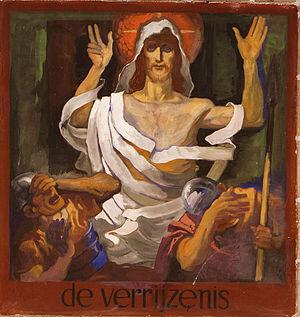St. Joseph, Leiden - Image: Kruisweg Sint Jospehkerk Leiden Detail Verrijzenis