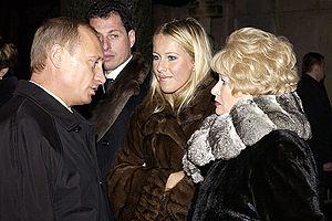 Ksenia Sobchak - Vladimir Putin, Ksenia Sobchak, and Lyudmila Narusova, in 2003